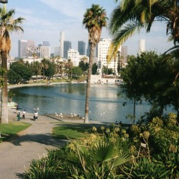 Los Angeles - a city that combines everything. (location: Macarthur Park -- image source: wikipedia)