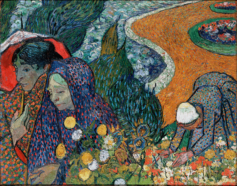 Memory of the Garden at Etten (Ladies of Arles) by Vincent Van Gogh (image source: wikipedia)