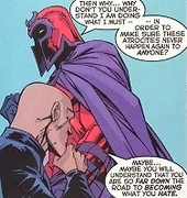 Professor X and Magneto had different views on how to defend their kind (source: wikipedia.org)
