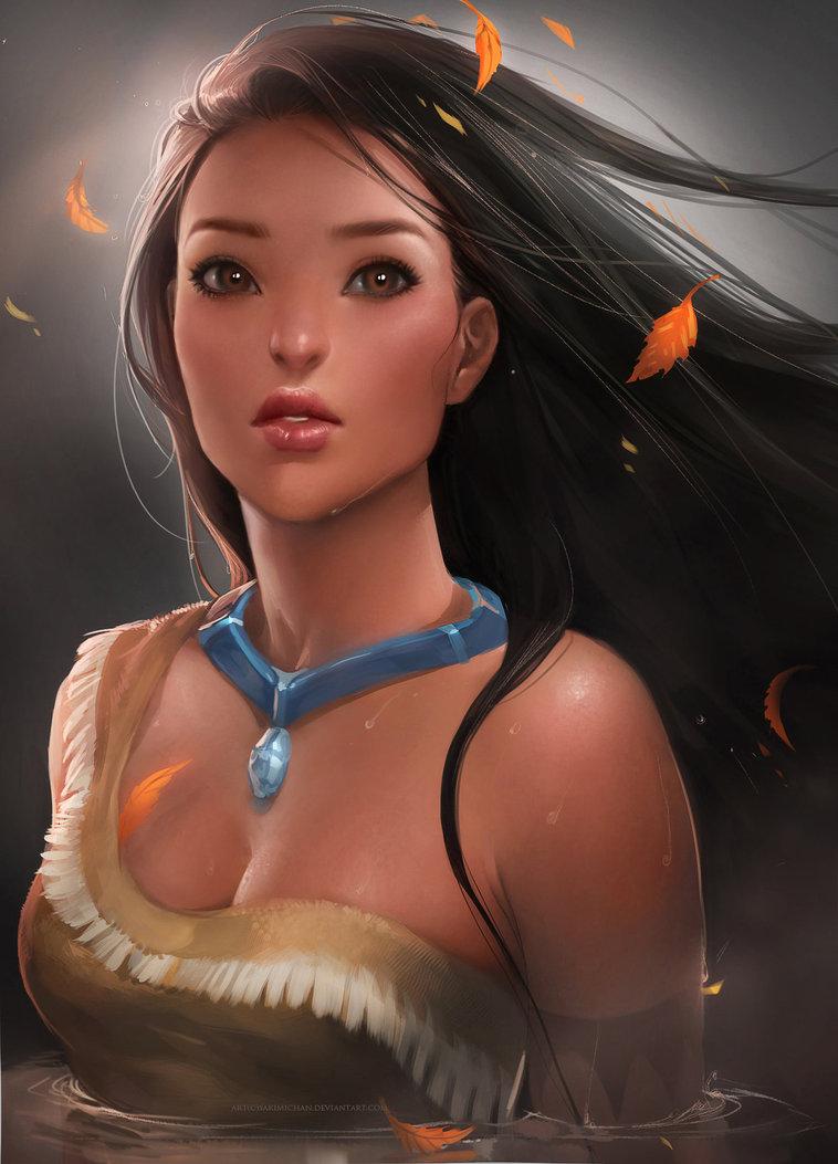 Sexy Pocahontas? (image by sakimichan – via imgur)