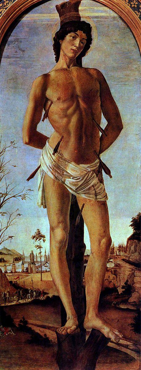 St Sebastian by Sandro Botticelli (c. 1474)
