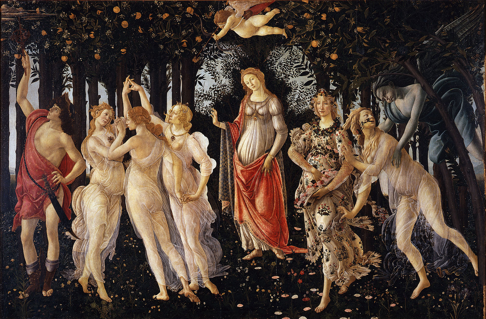 Primavera by Sandro Botticelli (1482)