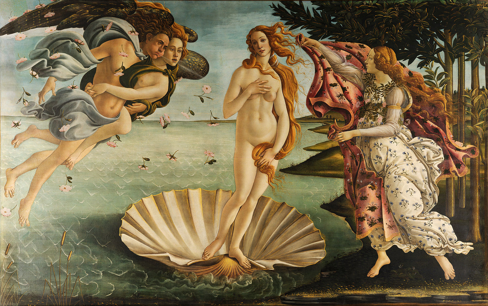 The Birth of Venus by Sandro Botticelli (1486)