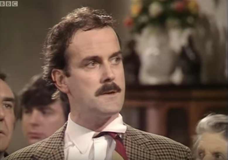 Image from the BBC series Fawlty Towers