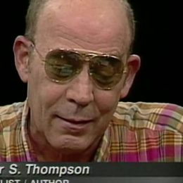 Hunter S. Thompson On Charlie Rose
