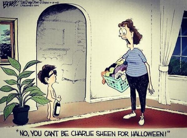charlie sheen halloween